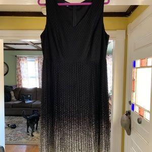 Black and gold ombré dress